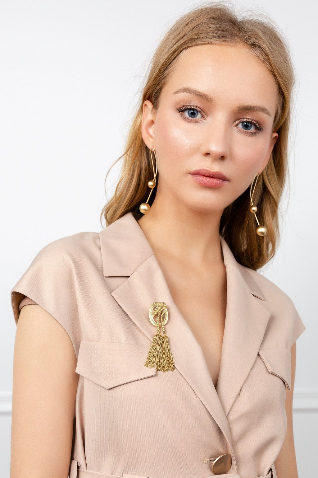 Commander Dress and Regal Brooch by J.ING women's fashion and accessories