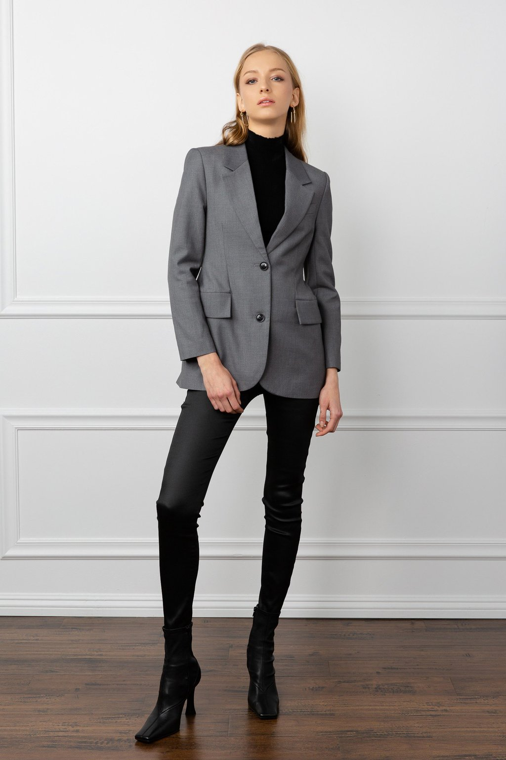 Grey tailored Everly blazer for women by j.ing