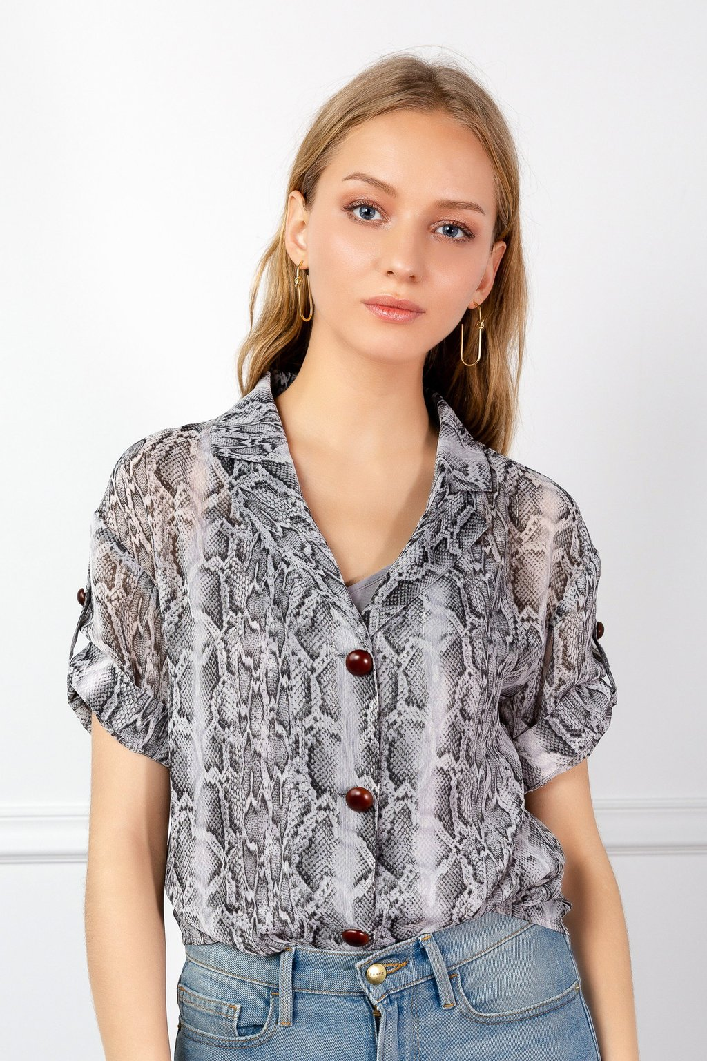 Snakeskin Shirt by J.ING LA Women's fashion