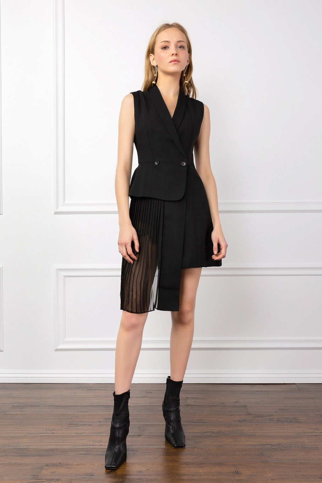 Office Odette Black Dress by J.ING women's fashion clothing