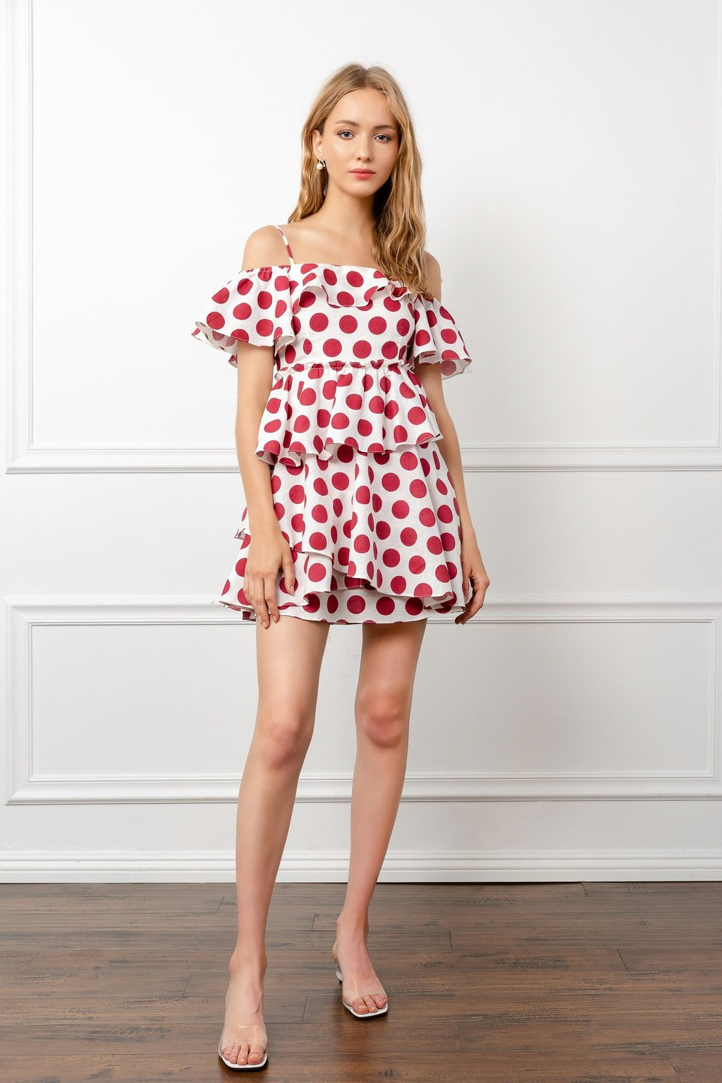 Connect Polka Dot Dress by J.ING LA Women's Fashion