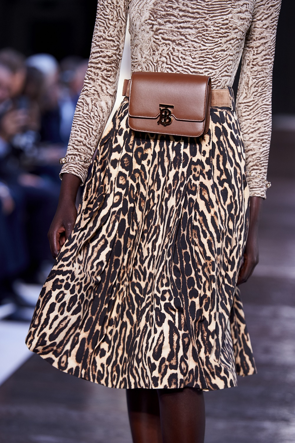 Animal Print skirt and cardigan by Burberry