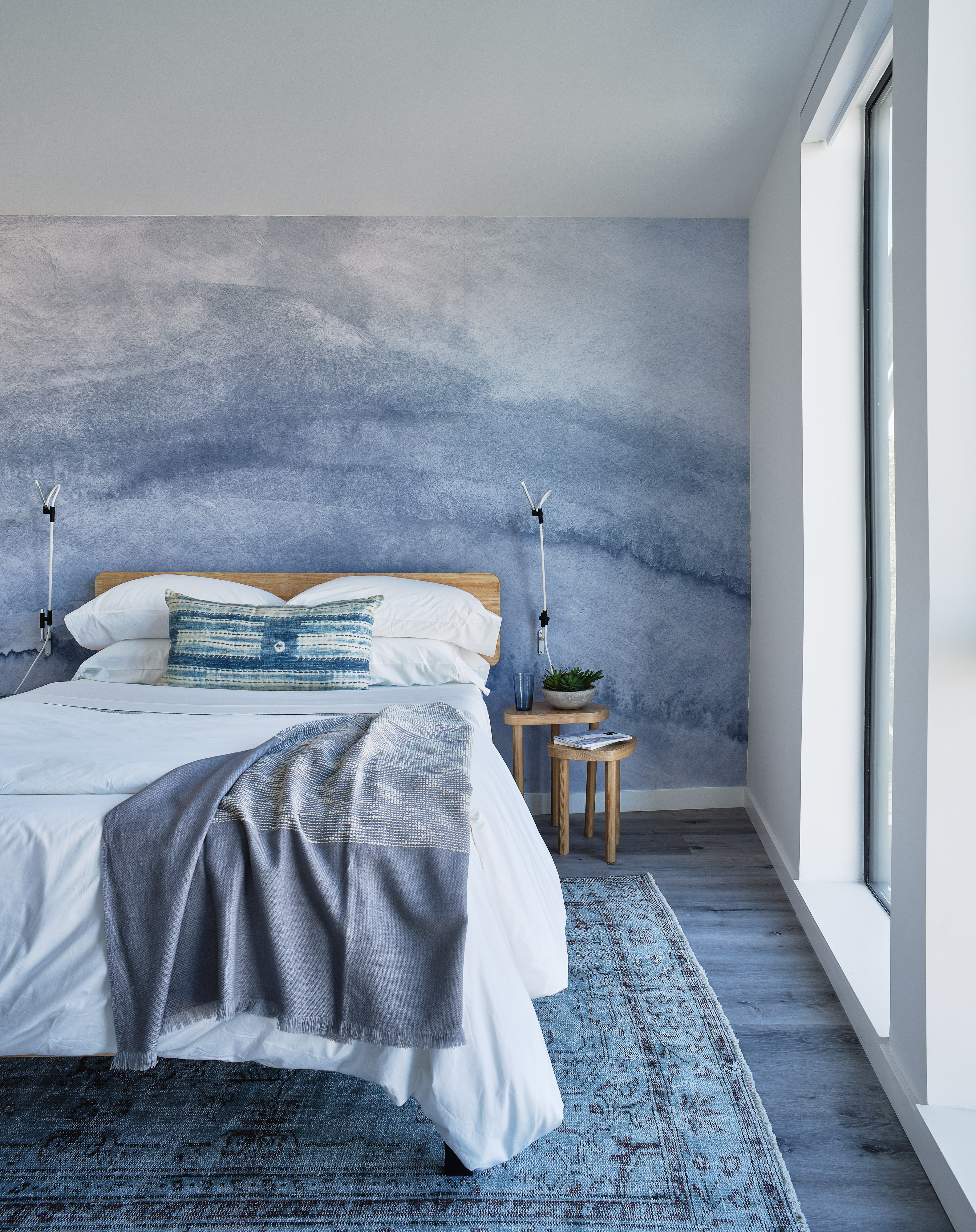 Shop for KAILU raw silk Heritage Duvets, featured inside the main bedroom at 188 Octavia in Hayes Valley, San Francisco, California. Staging by Batch.