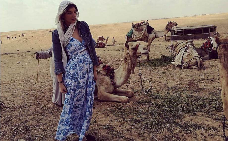 a loyal Wanderer in Cairo wearing Karavan Alcott Skirt & top