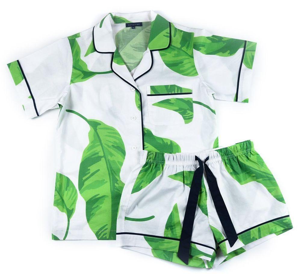 Katie Kime Banana Leaves Pajama Set