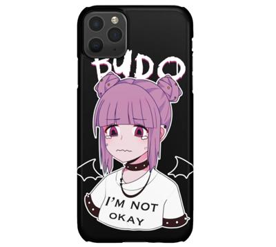 sad anime girl iphone case