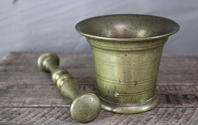 Brass Trench Art Pestle & Mortar