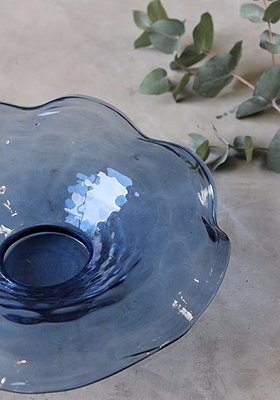 Blue Glass Centre Bowl
