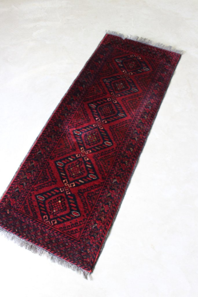 Afghan Red Wool Runner