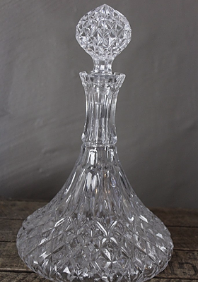 Glass Ships Decanter