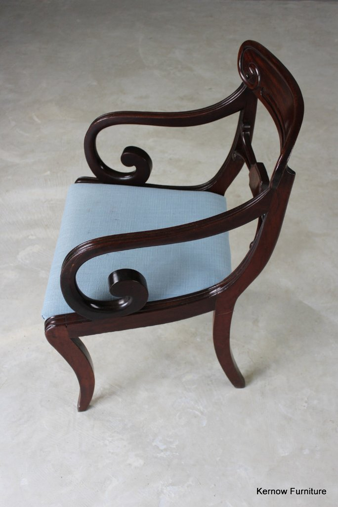 Regency Mahogany Carver Chair