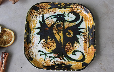 Celtic Pottery Tray for sale