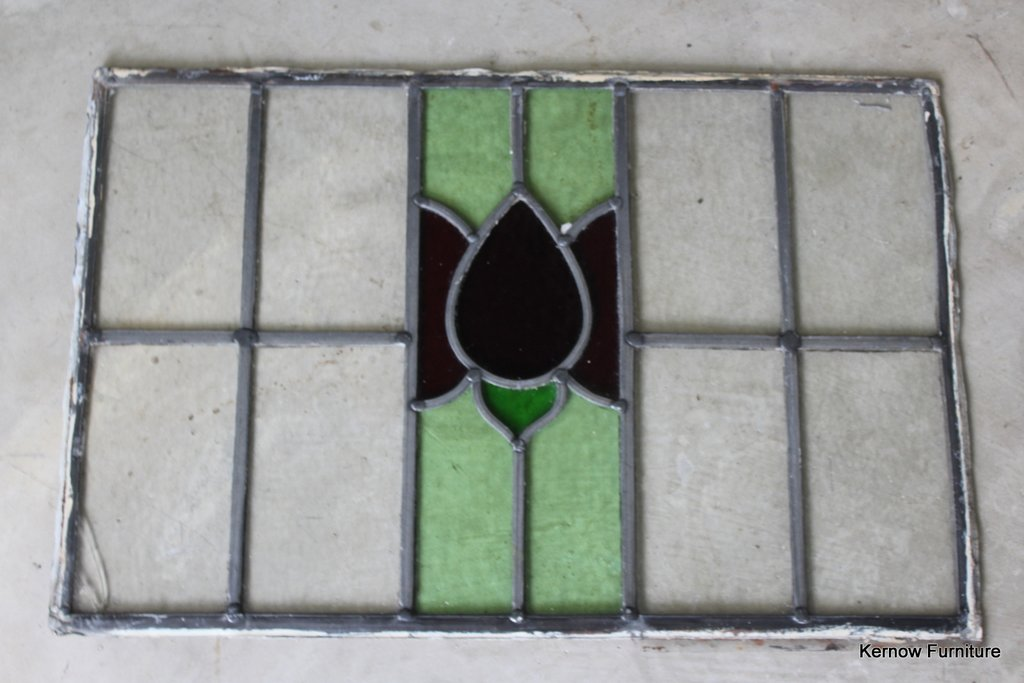 Floral Lead Glass Window Pane