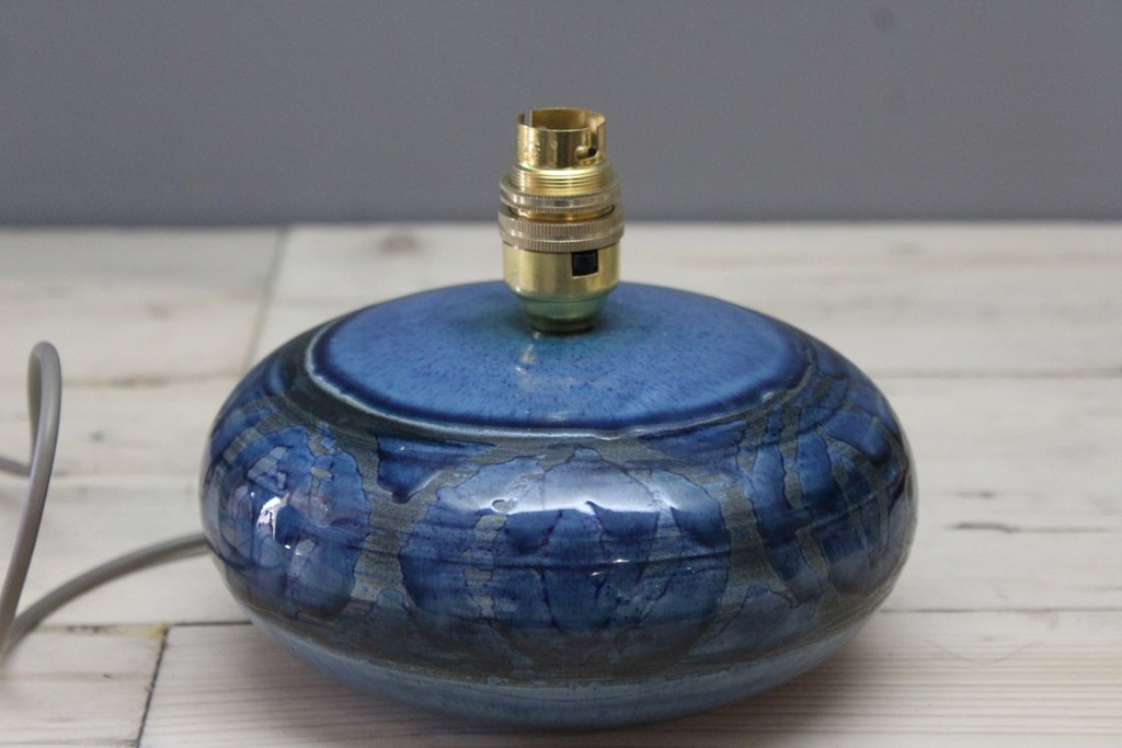 Lamorna Cornish Pottery Blue Lamp