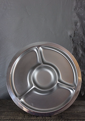 Round Stainless Serving Dish