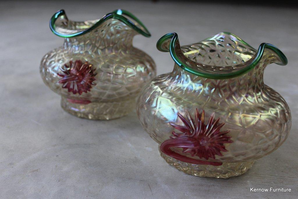 Pair Kralik Art Nouveau Vase