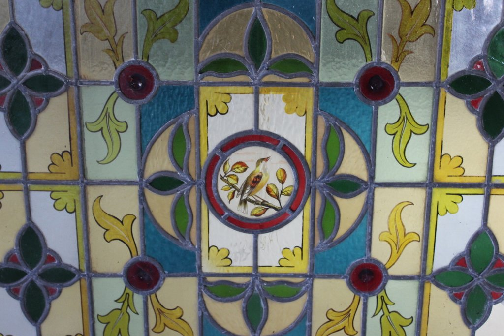 Pair Stained Glass Windows