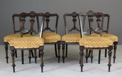 Antique Aesthetic Movement Victorian Dining Chairs