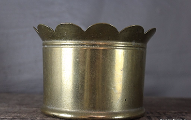 Brass Trench Art Plant Pot