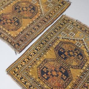 Pair Afghan Prayer Rugs