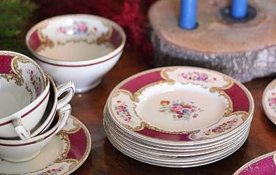 Myotts Royal Crown Bouquet Tea Service