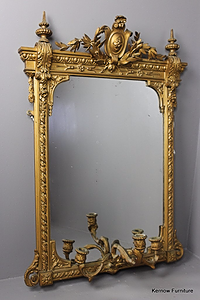 Antique girandole mirrors