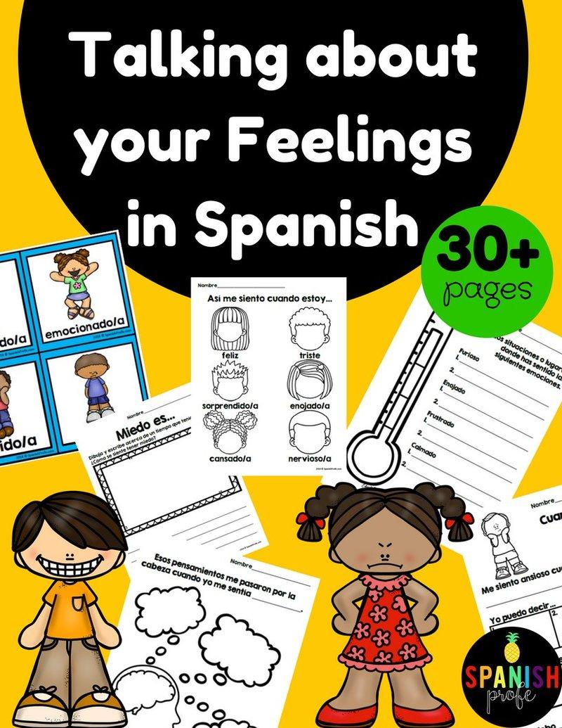 Feelings & Emotions in Spanish (Emociones y sentimientos)