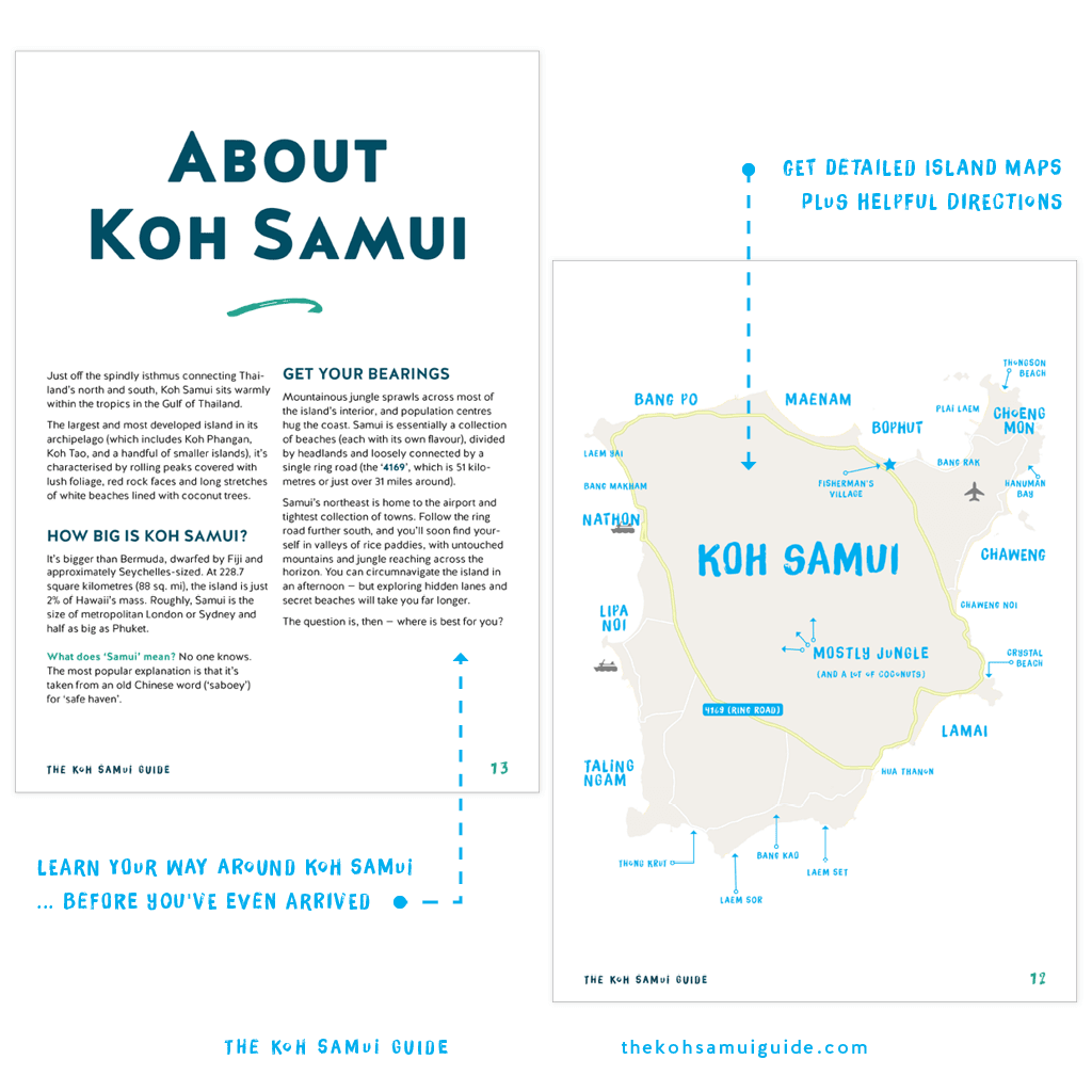 The Koh Samui Guide 2019: Twenty-six Koh Samui maps make it easier than ever to find your way from A to B – starting at Koh Samui Airport