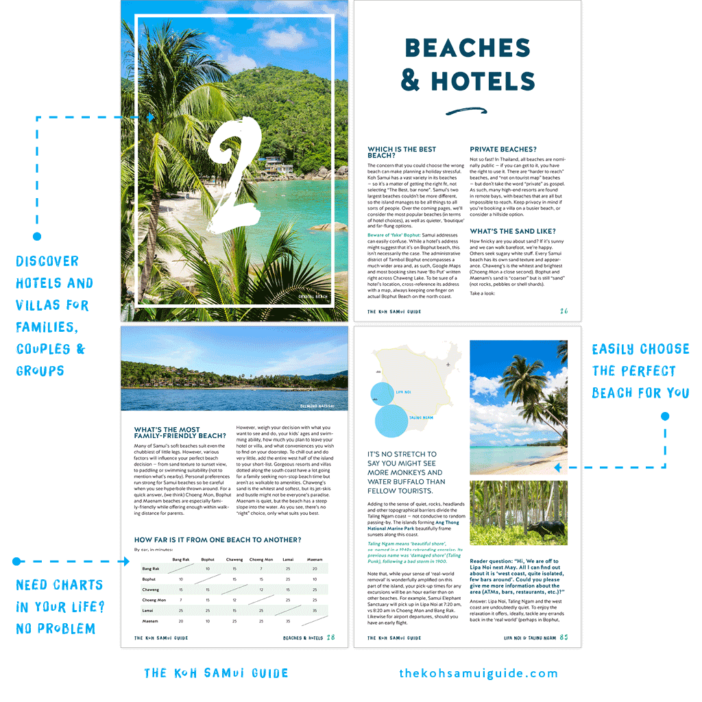 The Koh Samui Guide 2019: Better beach-by-beach comparisons mean even less stress to choose your base, with brand new hotel recommendations