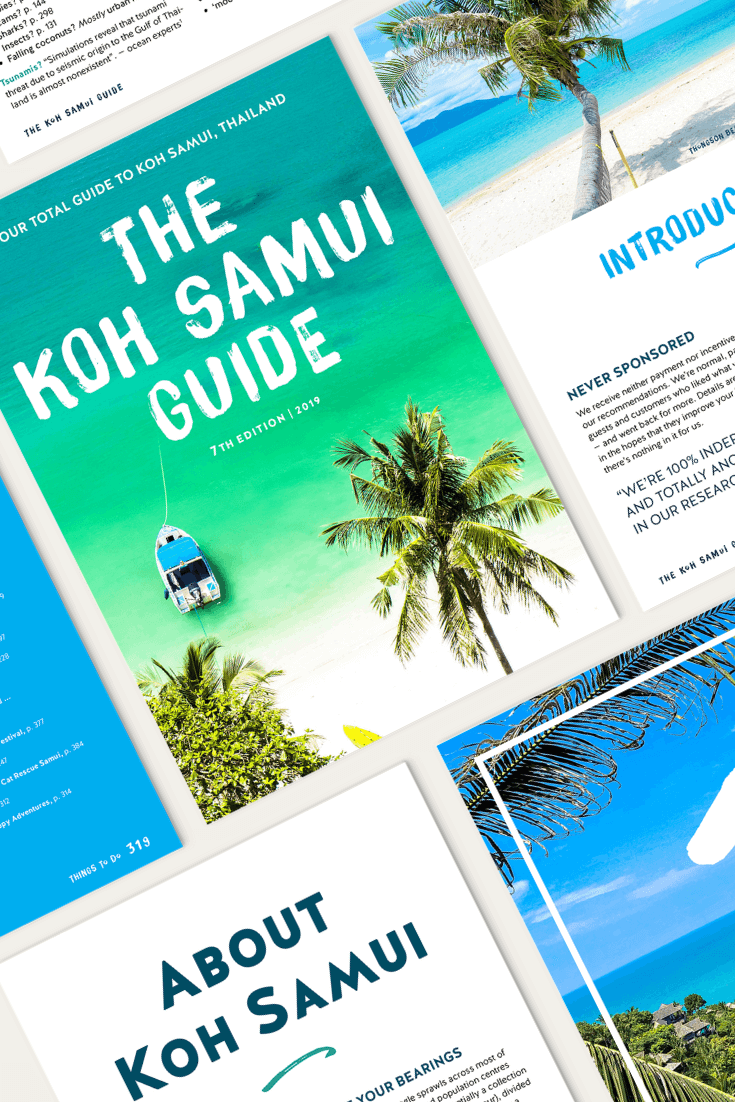 """The Koh Samui Guide review: """"By far the best single spot travel guide I've seen"""""""