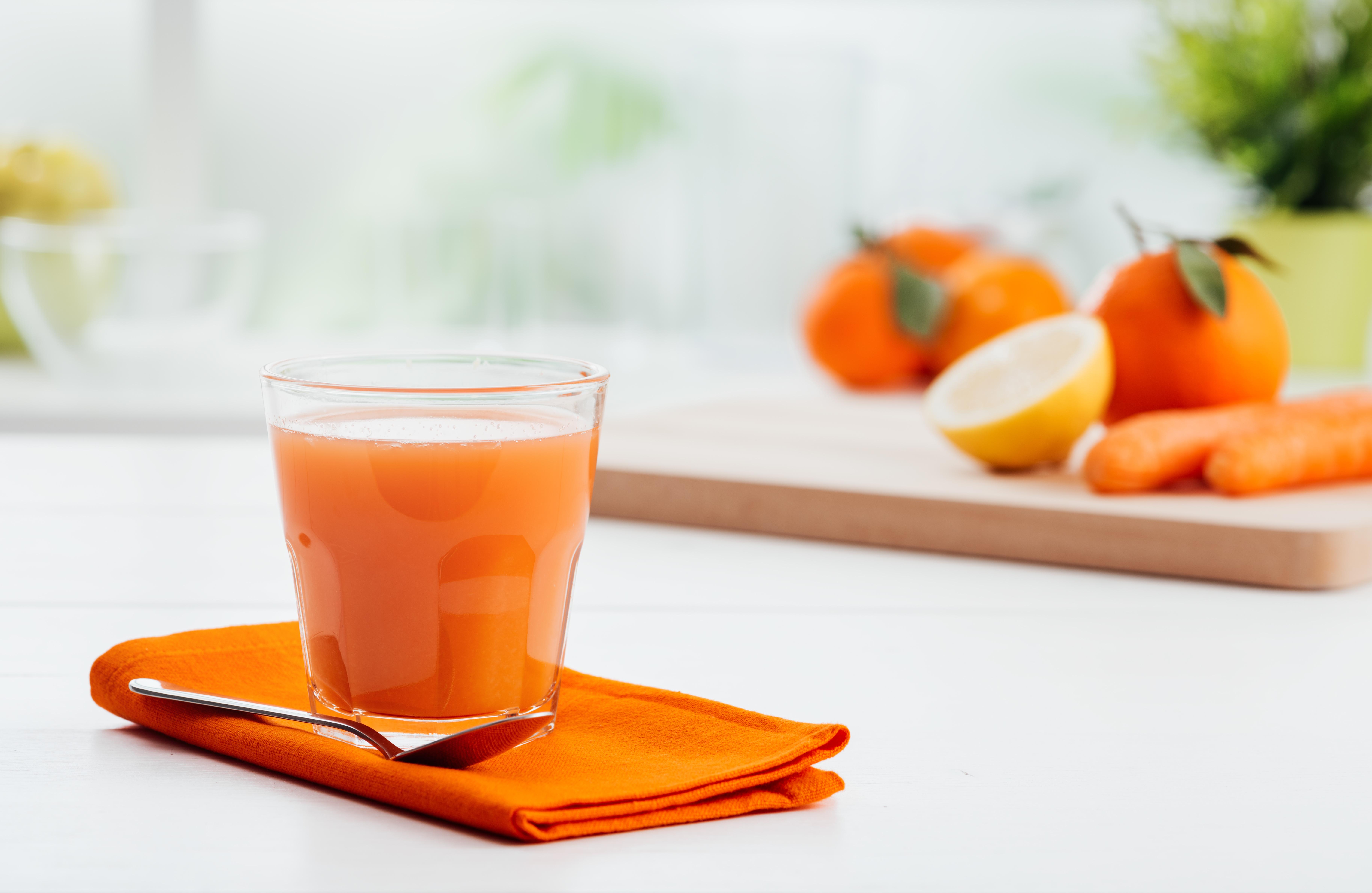 Jus oranges carottes