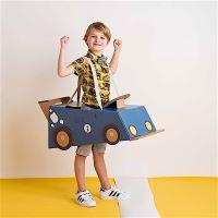 Déguisement en carton - voiture bleue - Mister Tody