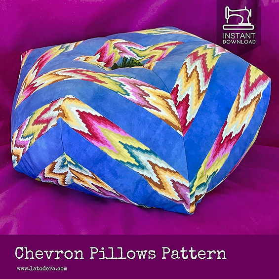 chevron pillow pattern la todera