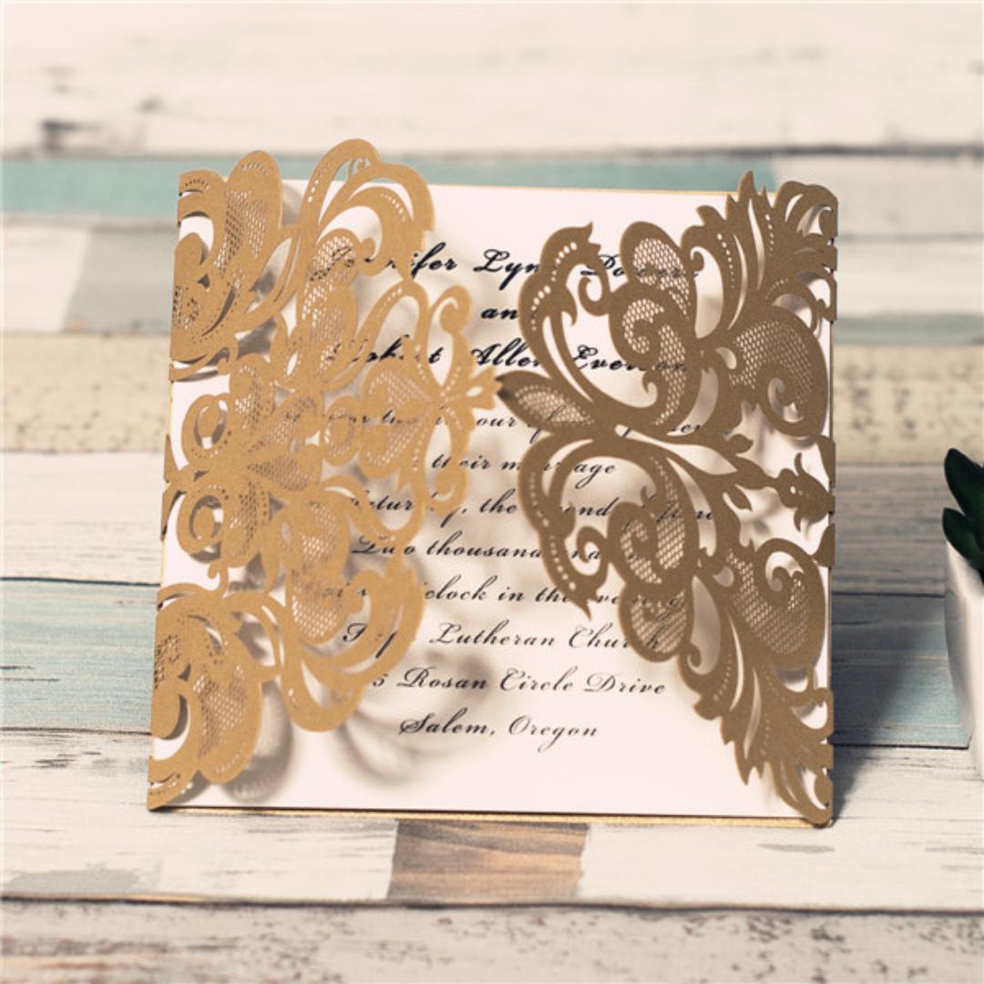 Square Gate Card Wedding Invitation