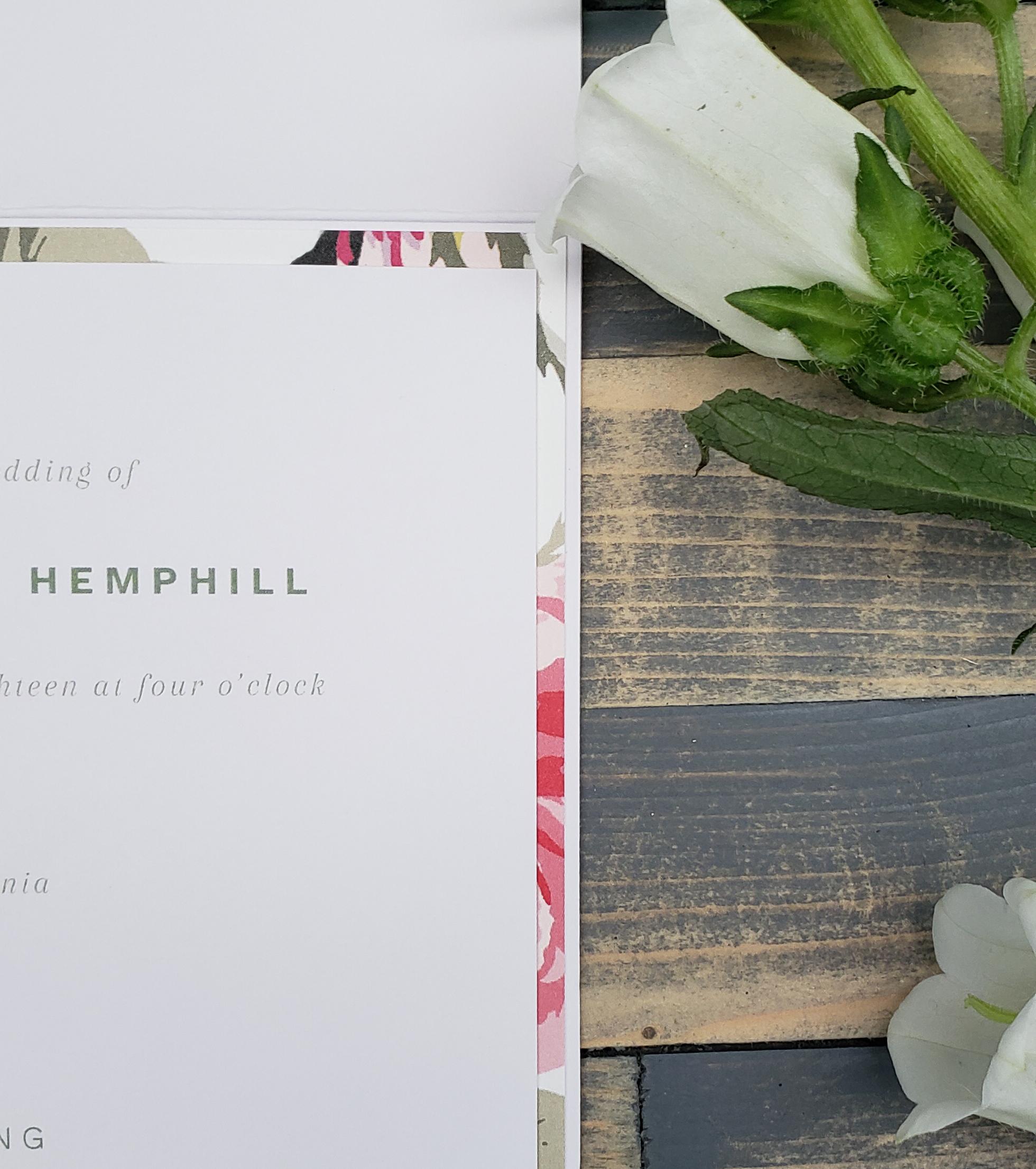 custom floral wedding invitation