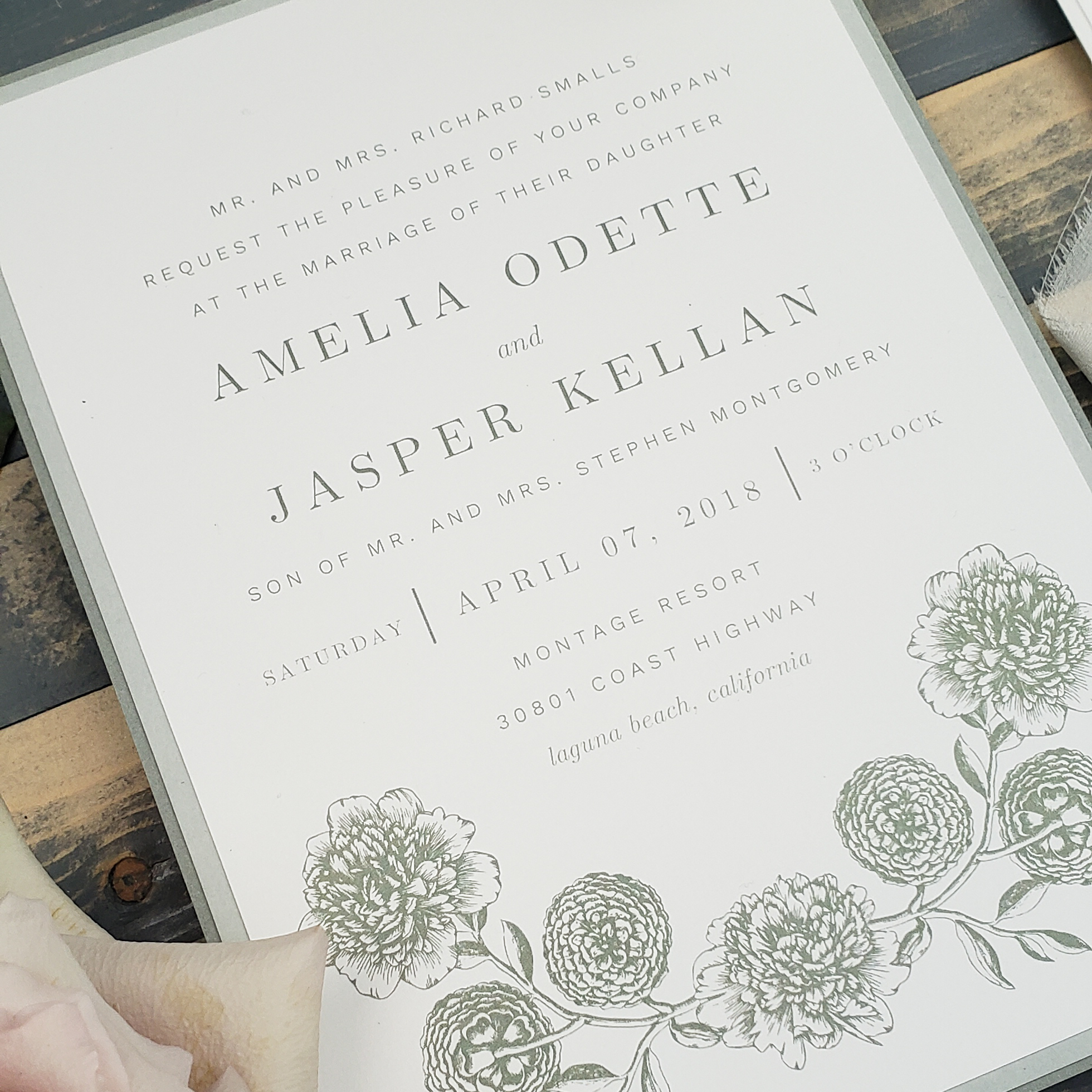 sage green wedding invitations