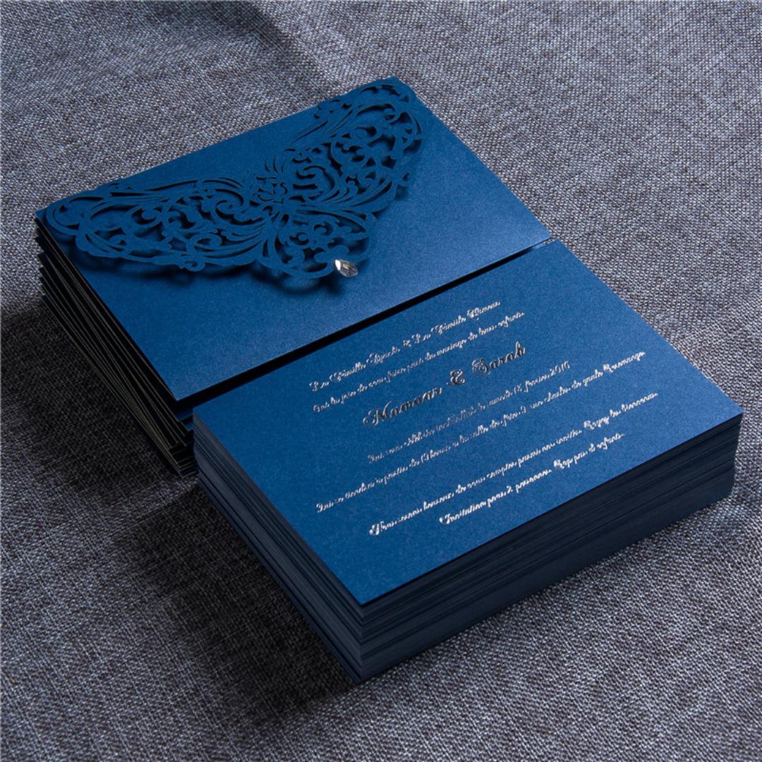 Envelope Laser Cut Wedding Invitation