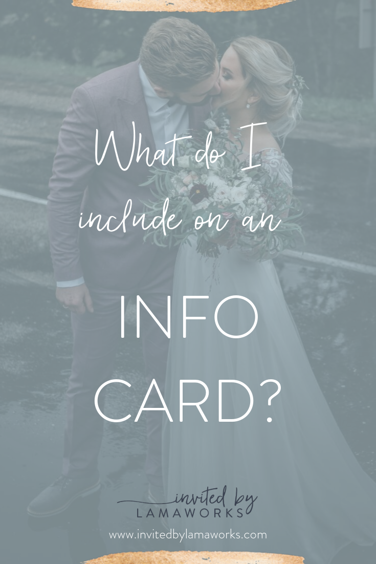 Wedding Invitation Information Card: What to include