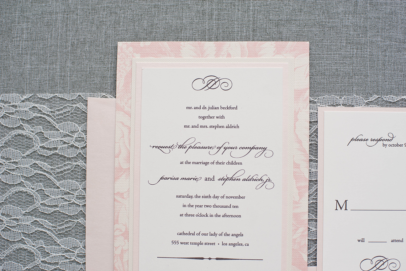 traditional wedding invitation