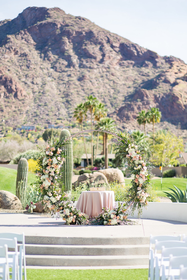Floral Cactus Wedding Arch