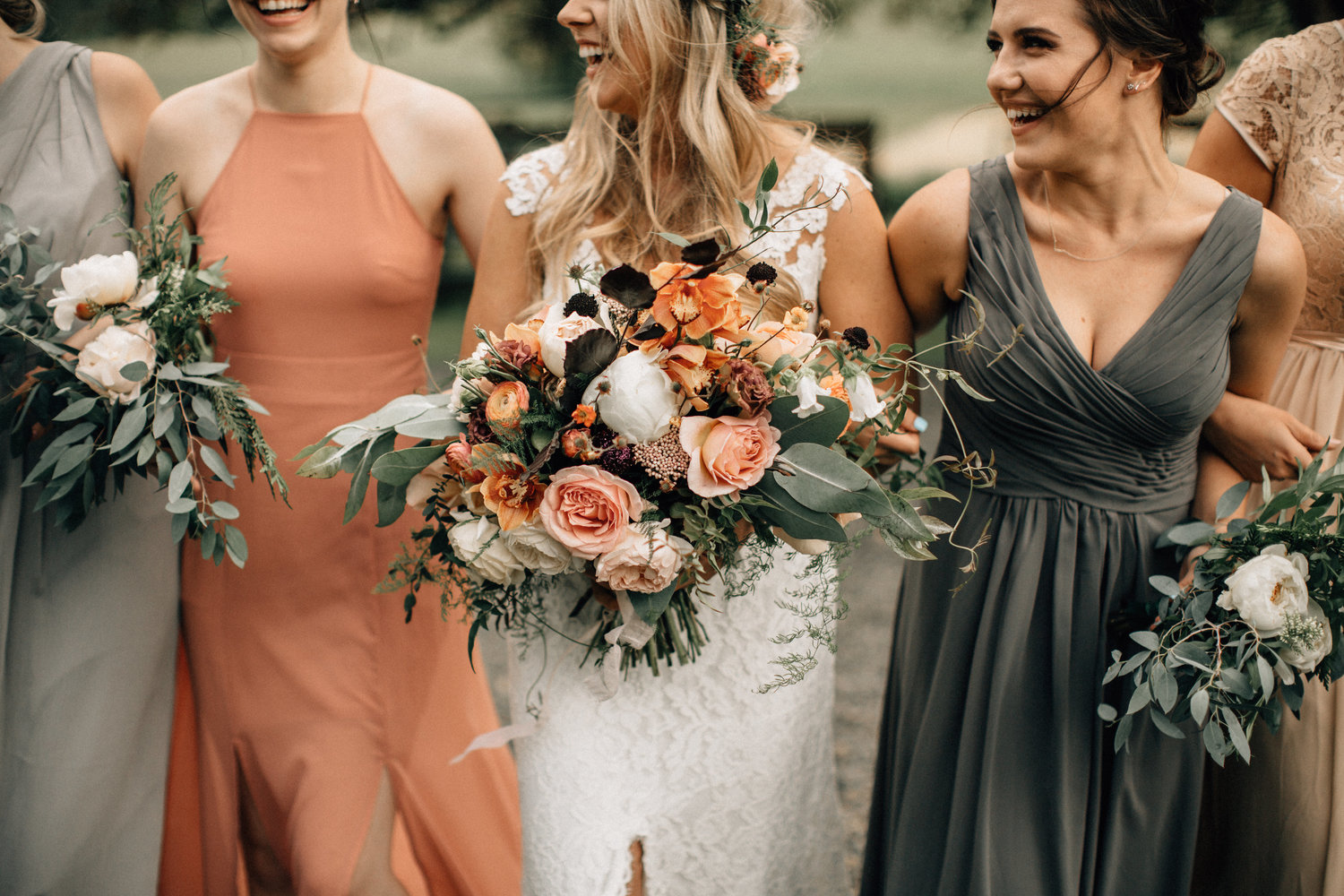 Muted Fall Wedding Bridesmaid Dresses
