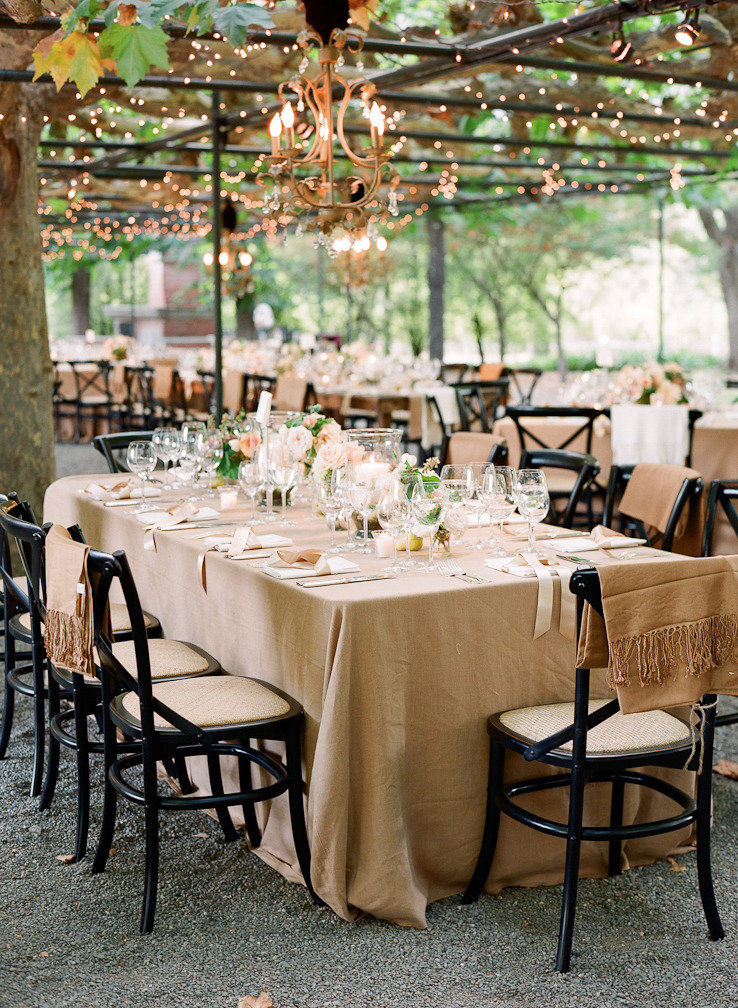 Neutral Classic Fall Wedding Reception