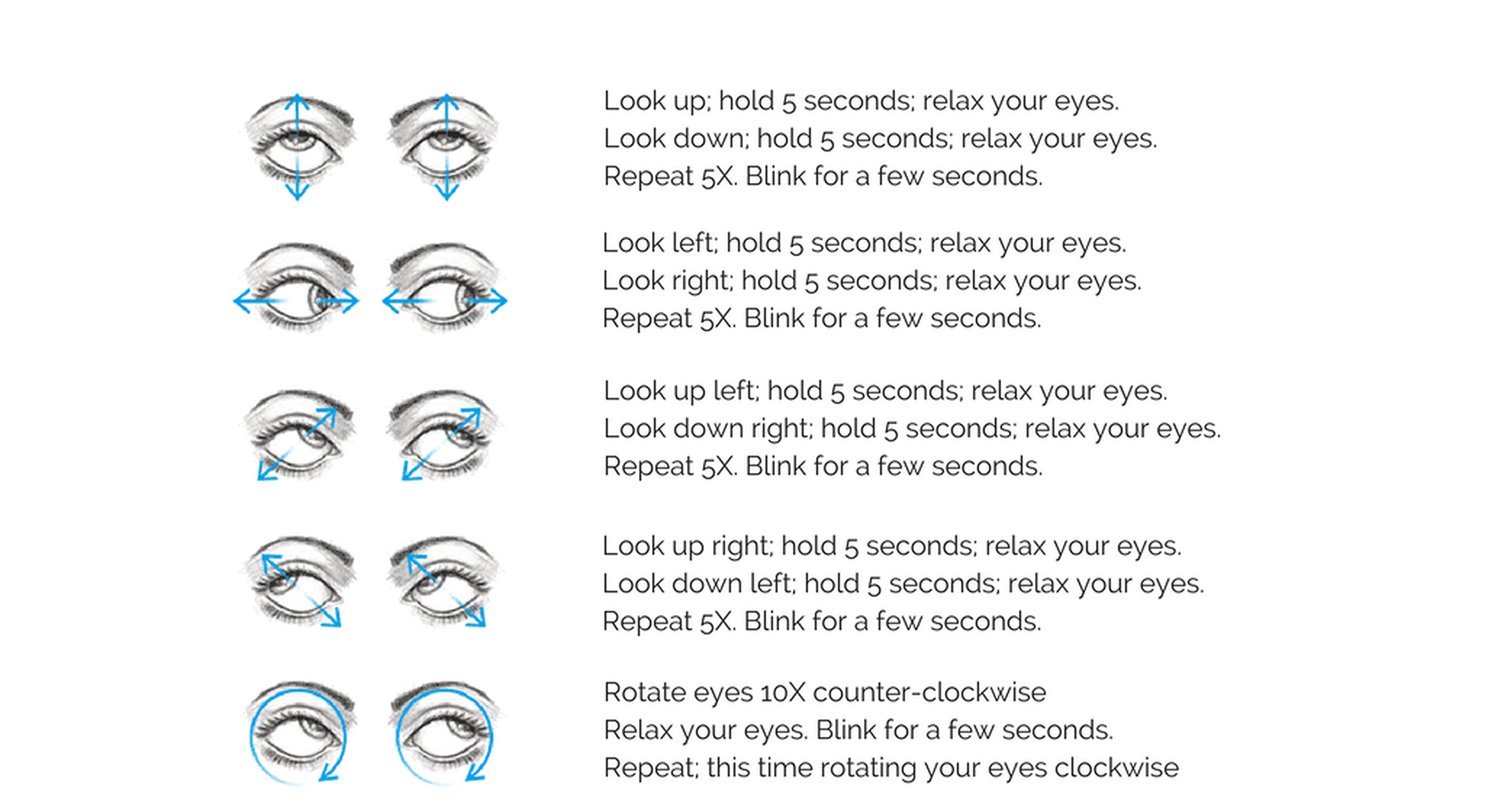 Do these eye exercises daily to increase eye strength and reduce fatigue