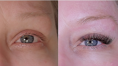 before and after by Lash Affair Brand Ambassador, Sydney Farrell