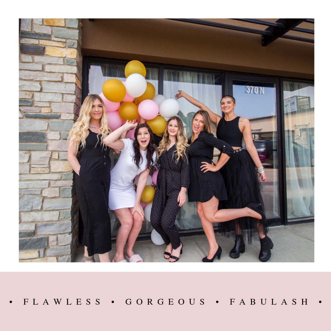 Blaze with her team of Lash Artists at Fabulash