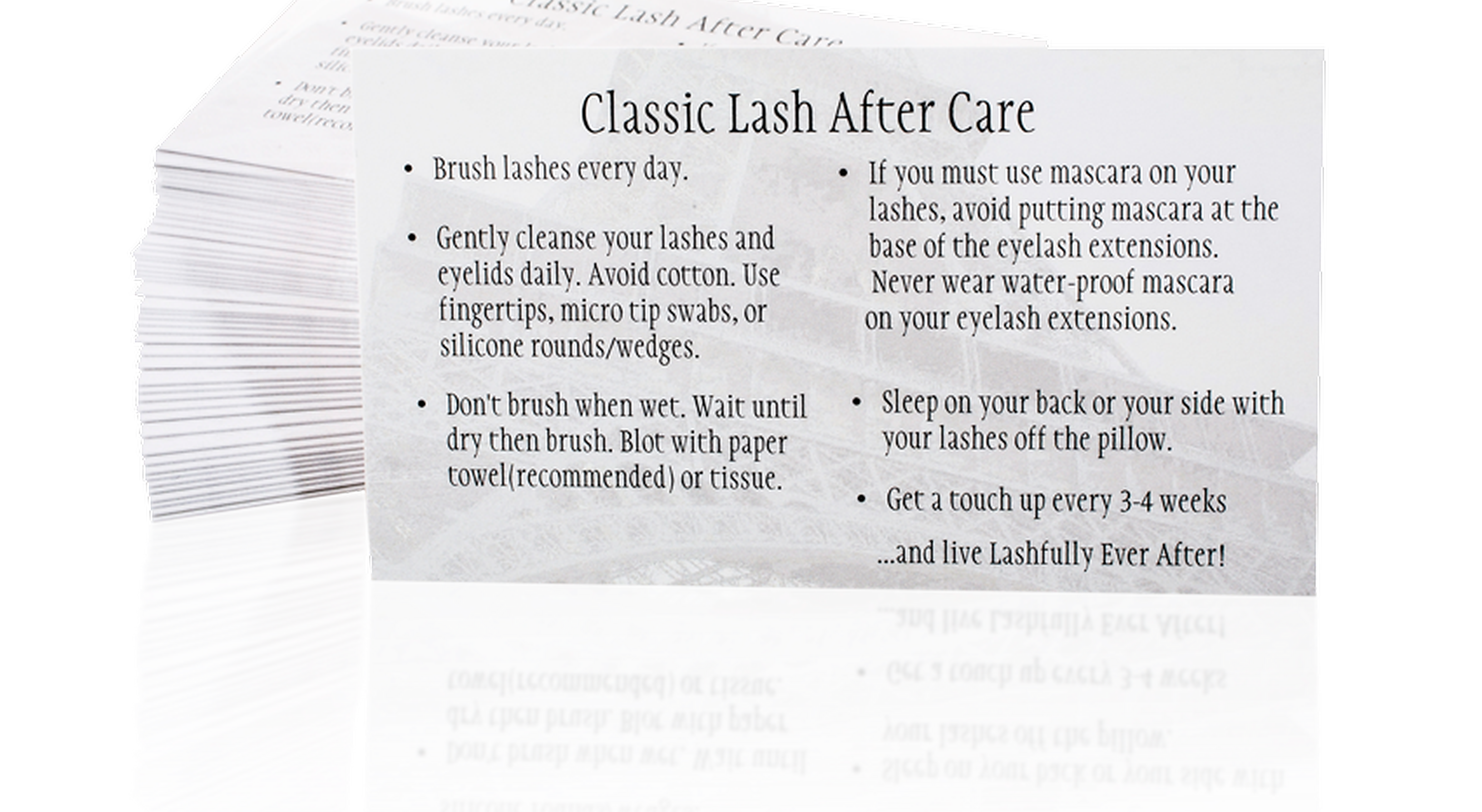 classic lash after care