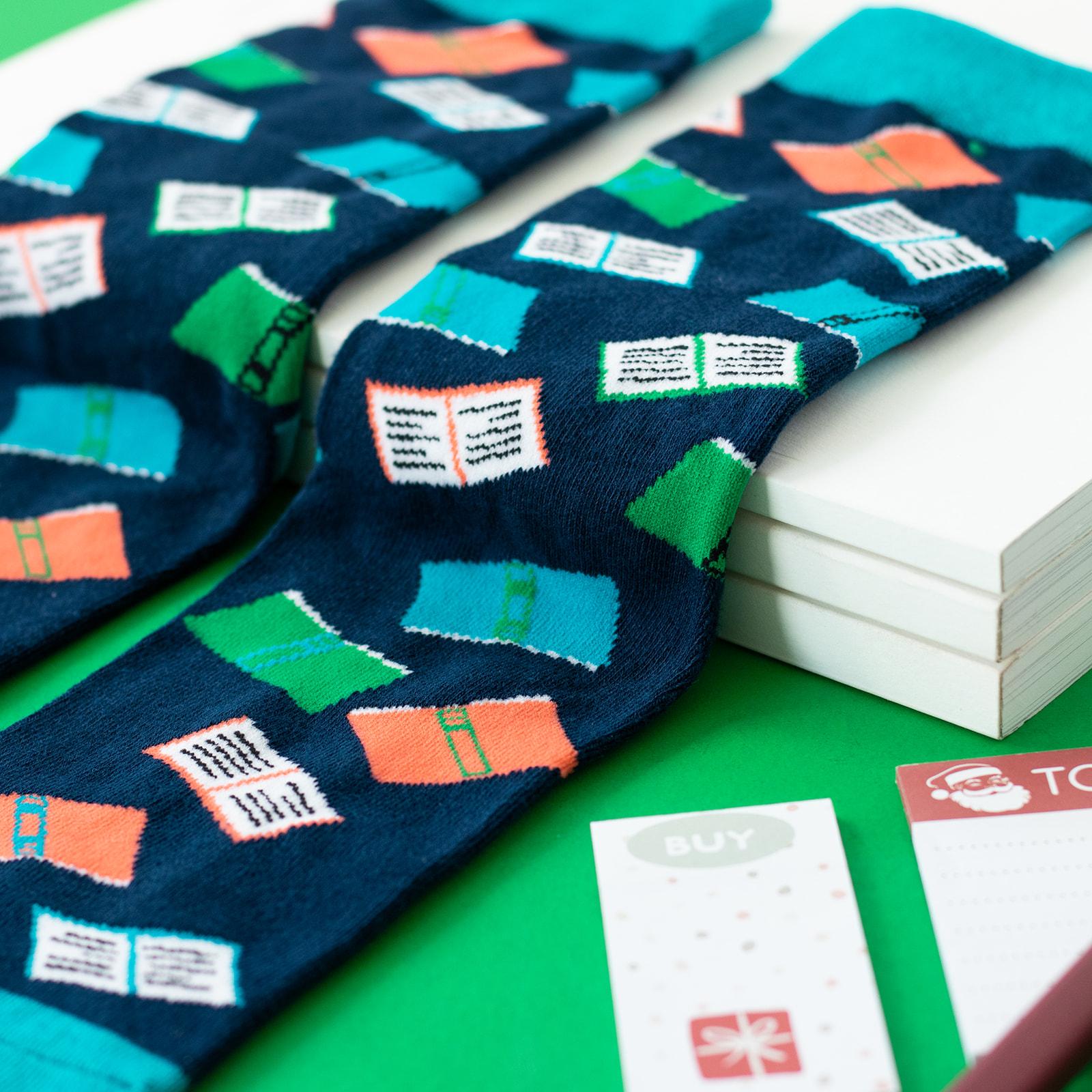 lavley funny book nerd socks for men and women