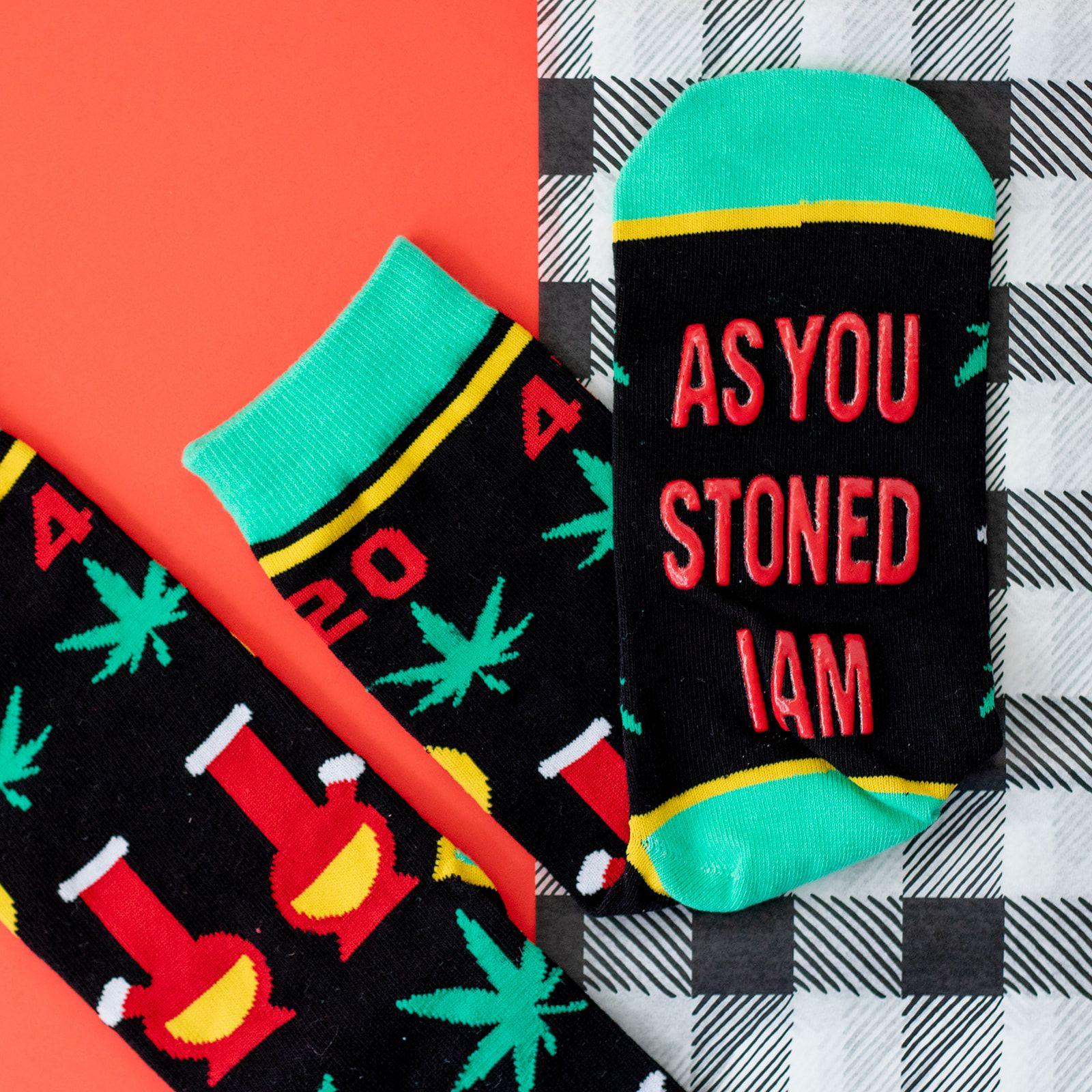 mens funny stoner weed marijuana socks