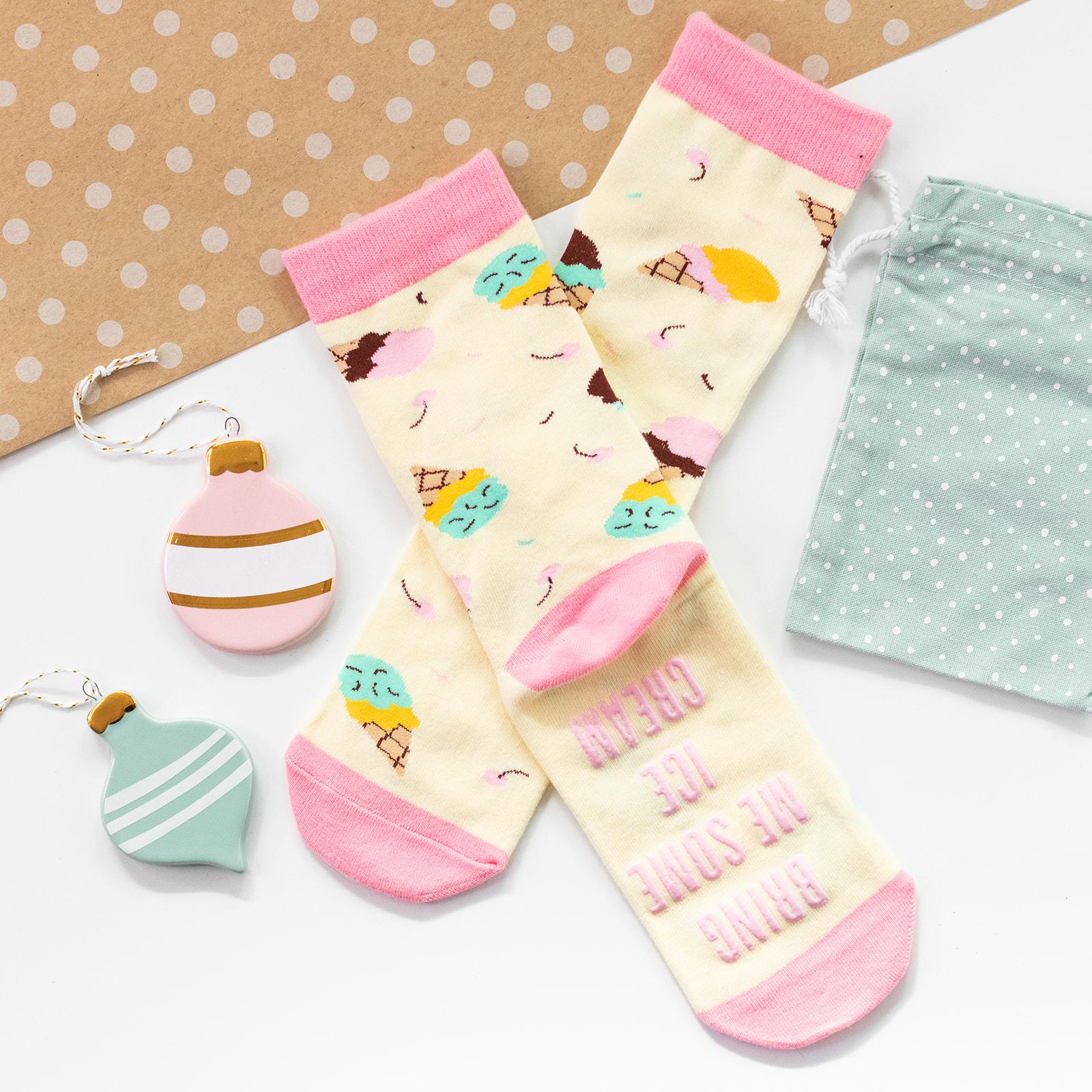 lavley funny womens novelty ice cream socks