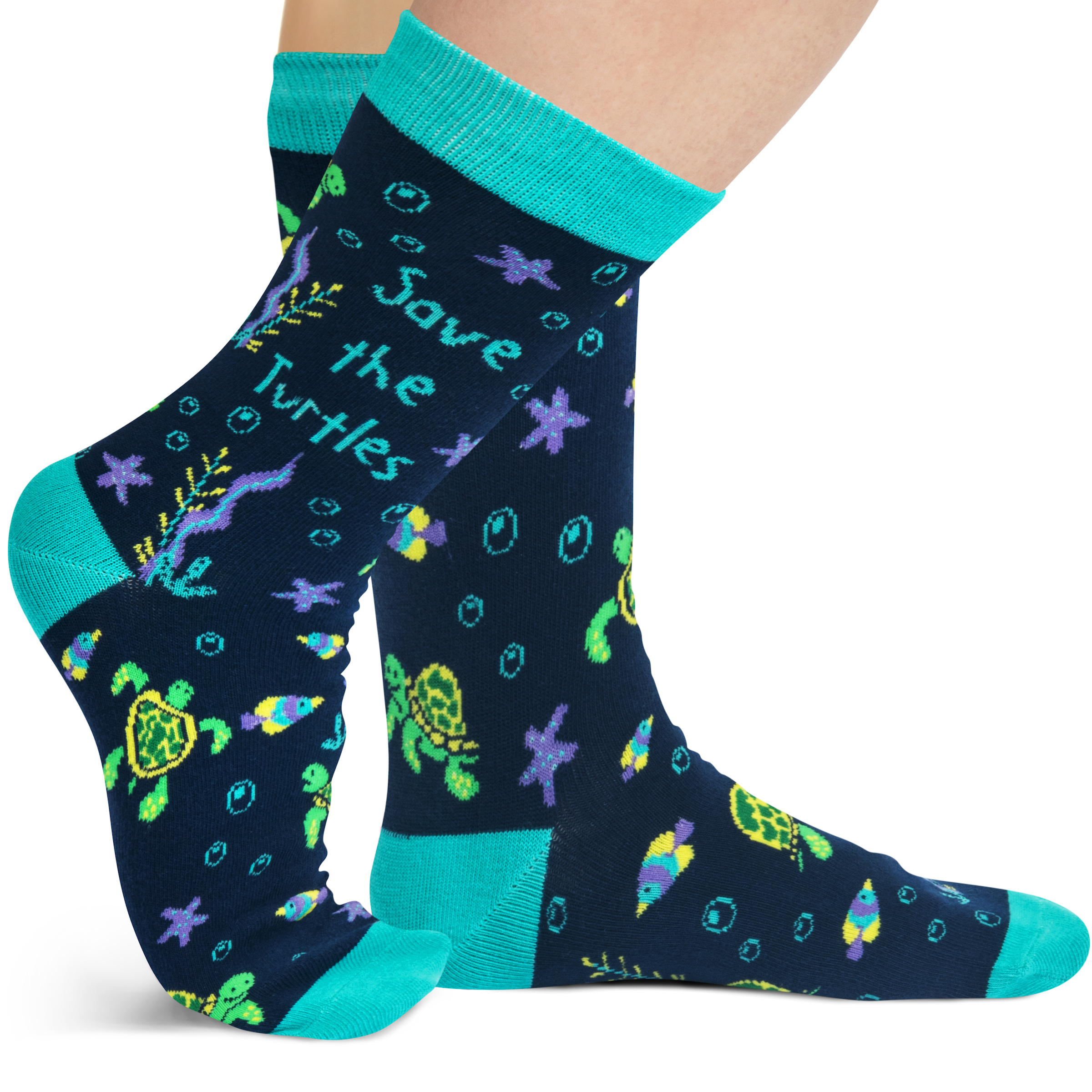 Lavley Save the turtle socks